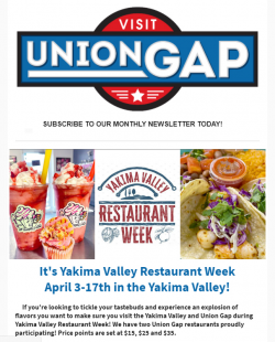 Our monthly newsletters keep you up to date on Union Gap events and more
